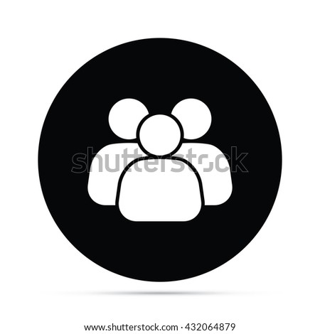 Circular Business Team Icon - stock vector