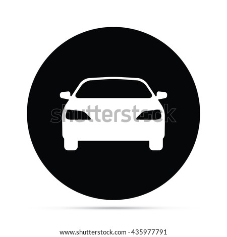 Circular Car Icon - stock vector