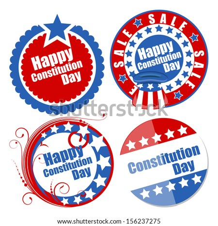 Circular designs for - Constitution Day Vector Illustration