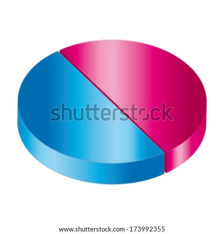 Circular diagram. Vector equality icon.  - stock vector