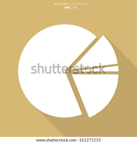 circular diagram web icon - stock vector