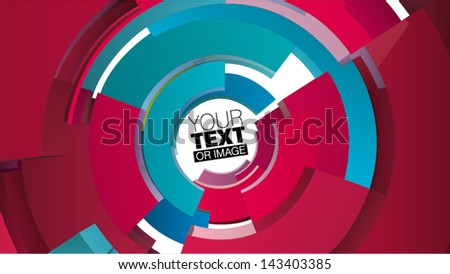 circular form composition for graphic design - stock vector