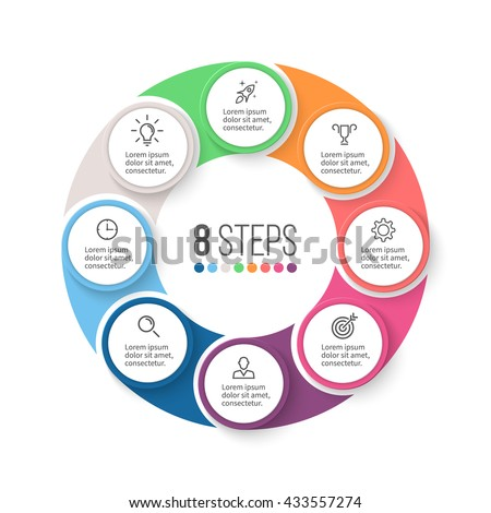 Circular Infographic Element Chart Graph Diagram Stock Vector