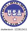 Circular made in USA vector stamp - stock vector