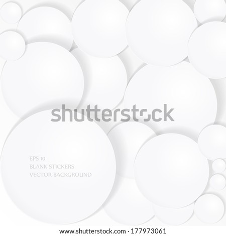 Circular  paper notes  vector background EPS 10 - stock vector