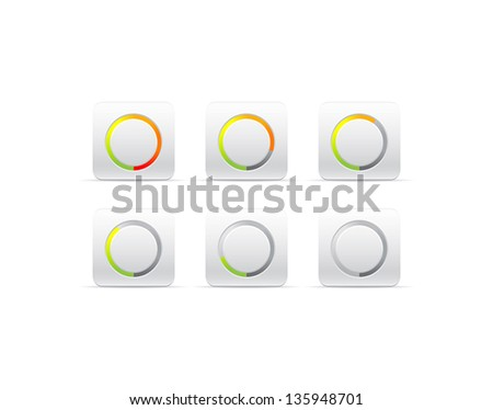 circular progress bar - stock vector