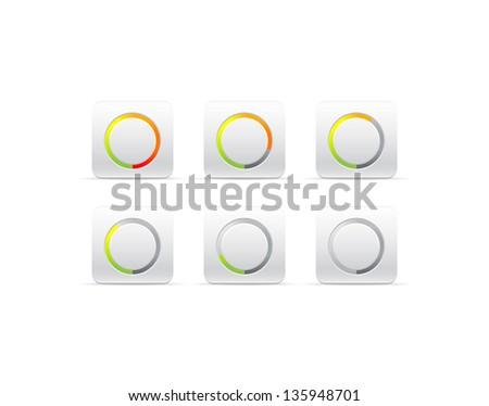 circular progress bar - stock vector