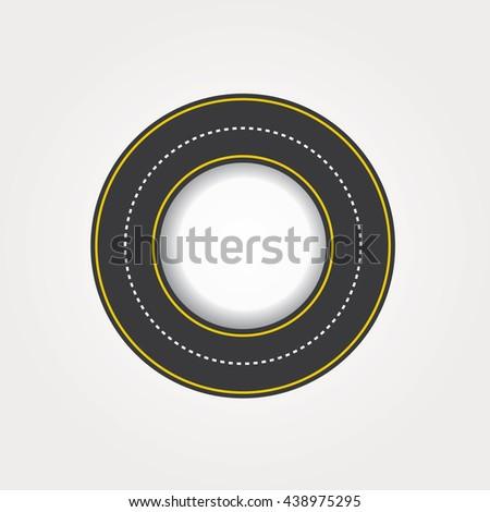 Circular road vector illustration. - stock vector