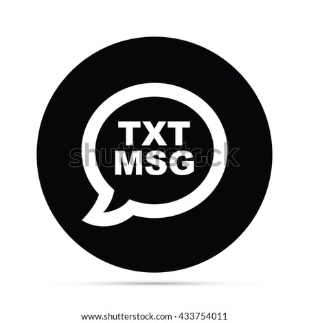 Circular Text Message Icon - stock vector