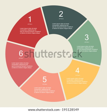 Circular Vector Info graphic for business project - stock vector