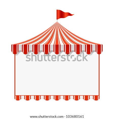 Circus advertisement background. Vector. - stock vector