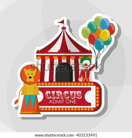 Circus and carnival design, vector illustration - stock vector