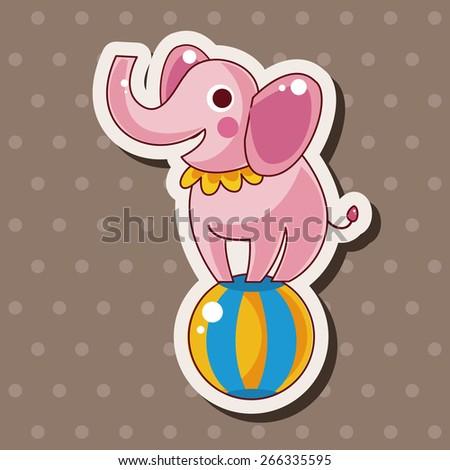 circus animal theme elements vector,eps - stock vector