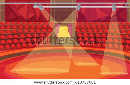 Circus arena. vector illustration & Inside Circus Tent Stock Images Royalty-Free Images u0026 Vectors ...