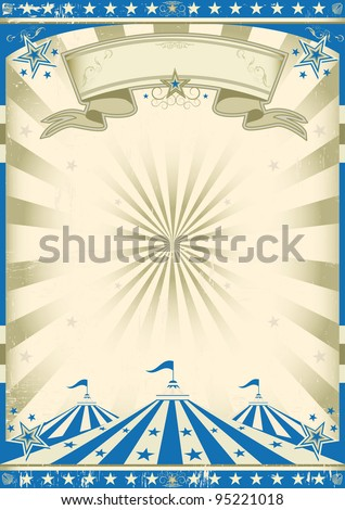 Circus blue vintage. a circus vintage poster for your advertising - stock vector