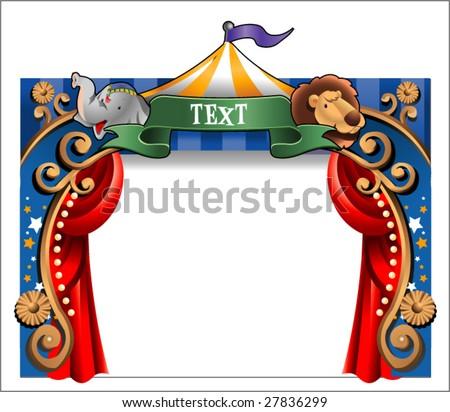 circus border - stock vector
