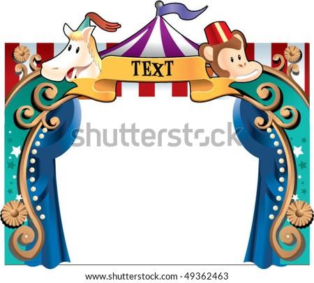 circus border2 - stock vector