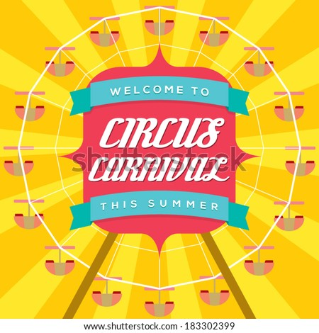 Circus Carnival Poster Template - stock vector
