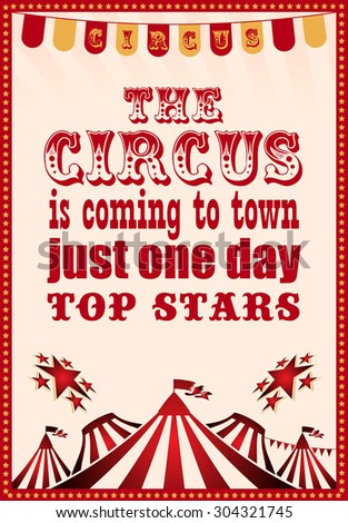 circus. circus vintage poster for your design - stock vector