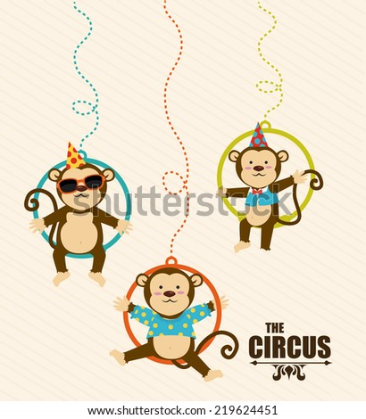 Circus design over beige background, vector illustration