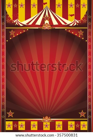 circus frame poster. A circus poster with a large frame for your message - stock vector