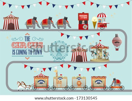 circus/fun fair/fairground/carnival vector/illustration - stock vector