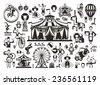 Circus. Icons set - stock