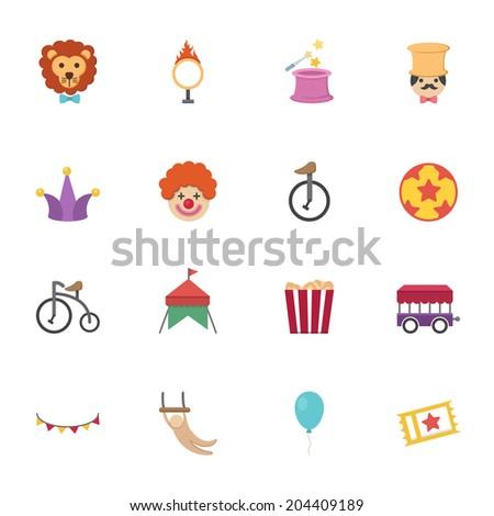 Circus Icons vector eps10 - stock vector