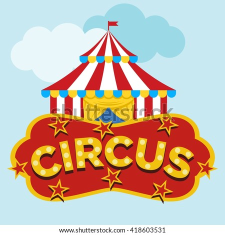Circus Illustration Template  - stock vector