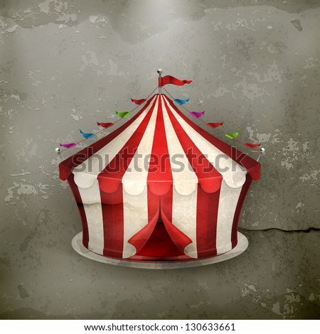 Circus, old-style vector - stock vector