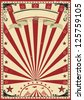 Circus red vintage.  a circus vintage poster for your show - stock photo