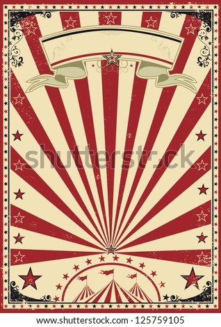Vintage Circus Poster Background Circus red vintage  a circus