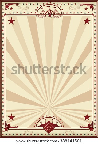 Circus retro poster sunbeams. A circus vintage poster for your advertising. Enjoy - stock vector