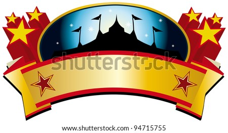 circus tent banner. A circus tent banner for your advertising - stock vector