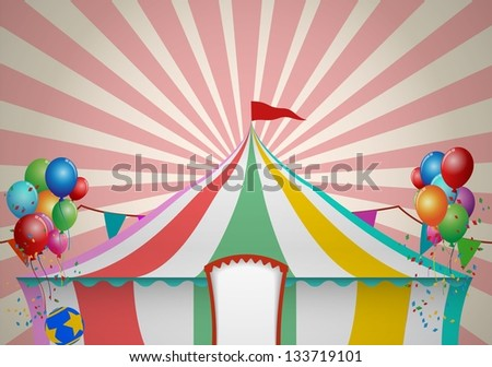 Circus Tent Celebration - stock vector