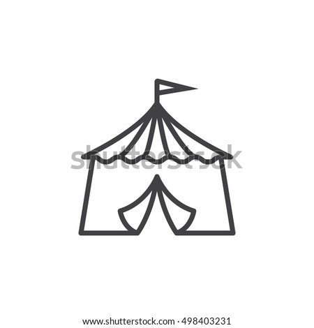 circus tent line icon outline vector sign linear pictogram isolated on white. logo  sc 1 st  Shutterstock & Circus Tent Line Icon Outline Vector Stock Vector 498403231 ...