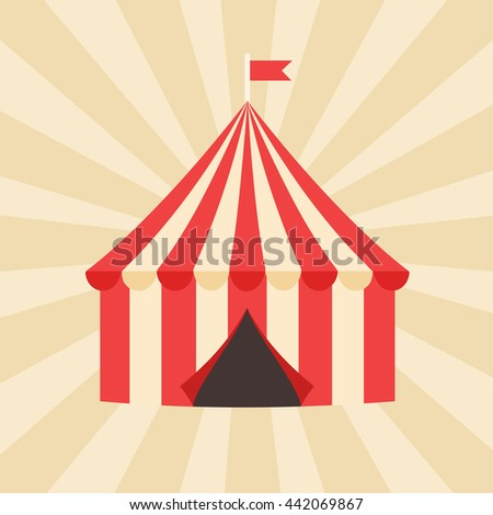 Circus tent vintage style vector illustration. & Circus Tent Vintage Style Vector Illustration Stock Vector ...