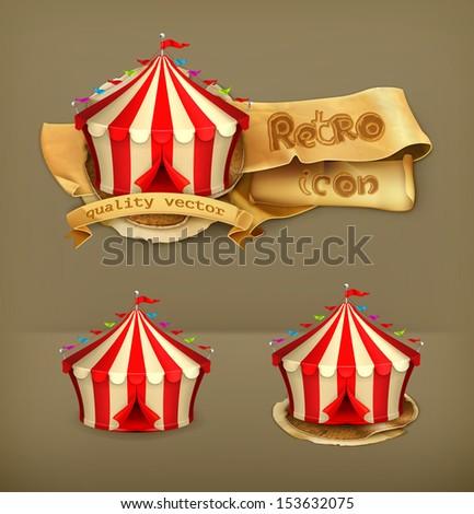 Circus, vector icon - stock vector