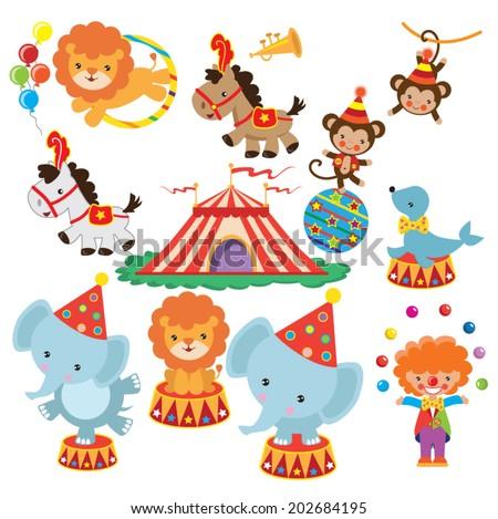 Retro Circus Vector Illustration Stock Vector 238797034 - Shutterstock