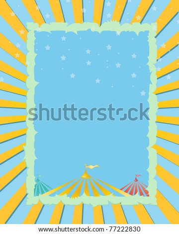 circus vintage poster. A retro circus yellow  background for a poster - stock vector