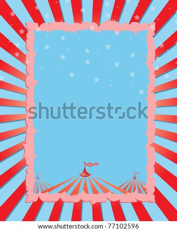 circus vintage poster. Red background for a poster - stock vector