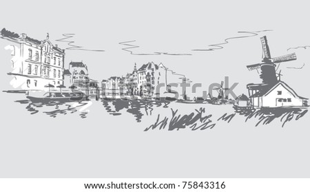 Cities of the world in the vector - stock vector