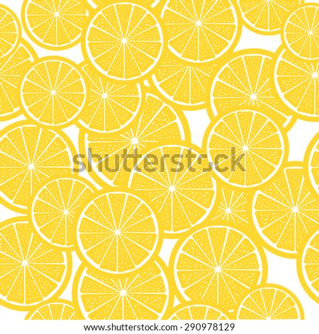 Citrus background seamless vector pattern background - stock vector