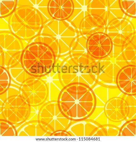Citrus seamless pattern. Vector illustration. - stock vector