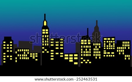 City 2 - stock vector