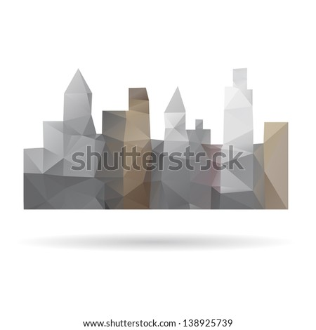 City abstract isolated on a white background - stock vector