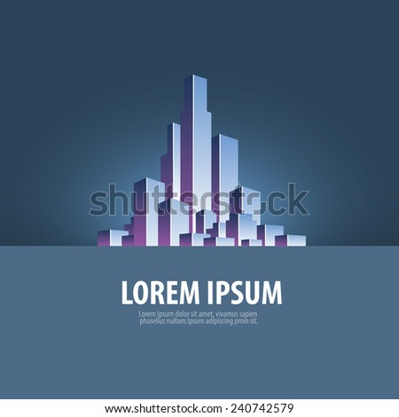 City. Abstraction on the subject of metropolis - stock vector
