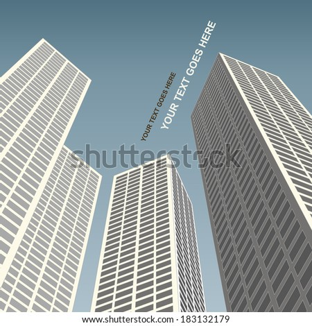 City architecture - stock vector