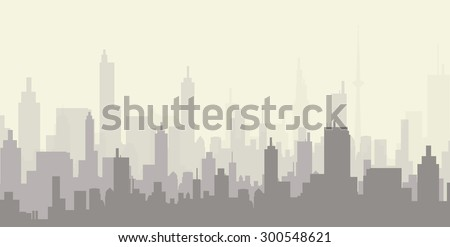 City at Early Morning
