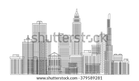 City background. Cityscape. Vector illustration